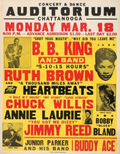1957 BB KING RUTH BROWN CONCERT POSTER