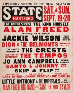 Alan Freed Hartford State Concert Poster 1959 20x25.5