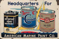 American Marine Paint Co. 27x18 1