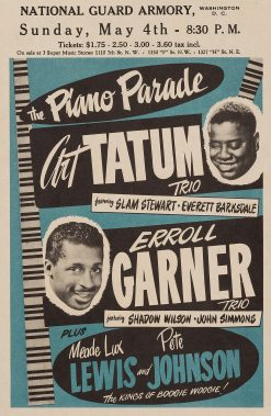 Art Tatum Errol Garner National Guard Armory Concert Poster 14x21.5