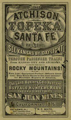 Atchison Topeka and Santa Fe Railroad Handbill 14x23.5