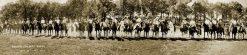 BAXTER SPRINGS 1927 KANSAS RODEO GATHERING PANORAMIC PHOTO