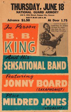 BB King Kansas City Concert Poster 1959 14x22 1