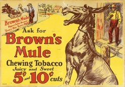 Browns Mule Chewing Tobacco 26x18 1