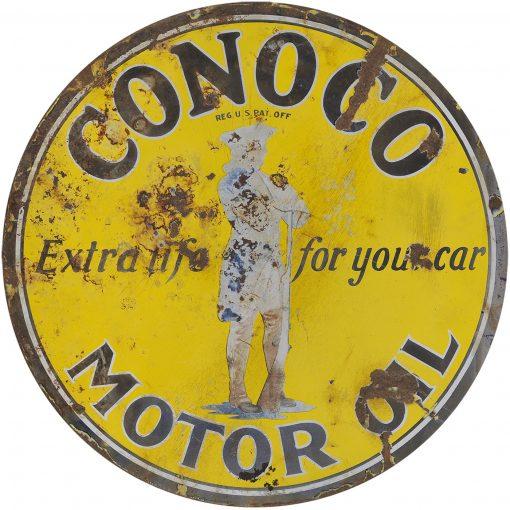 Conoco Motor Oil 24in Dia