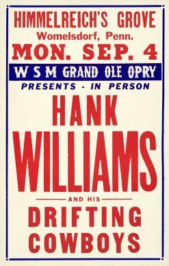 Hank Williams Himmelreichs Grove Poster 14x22 1