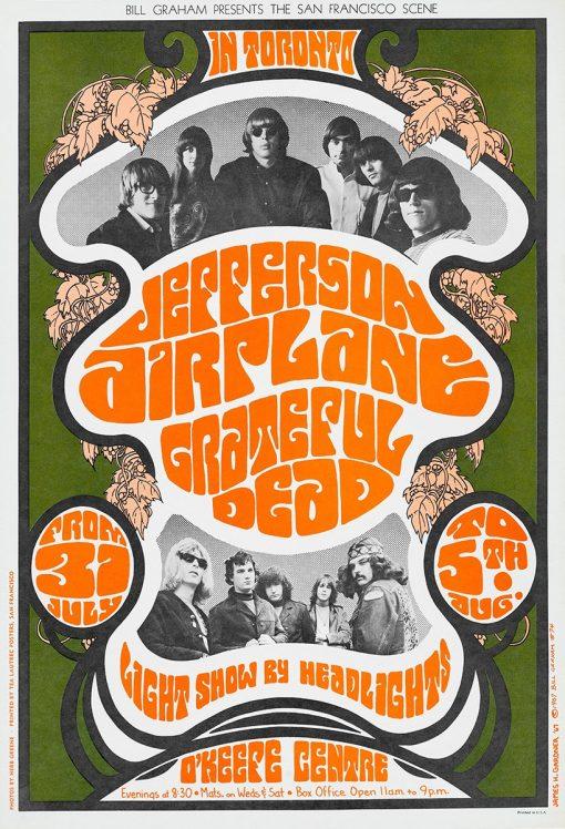 Jefferson Airplane Grateful Dead in Toronto 24x35 1