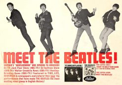 Meet the Beatles Promotional Poster 1964 20.5X14.5