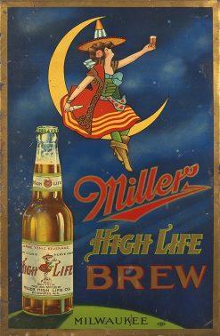 Miller High Life Brew 17x26 1